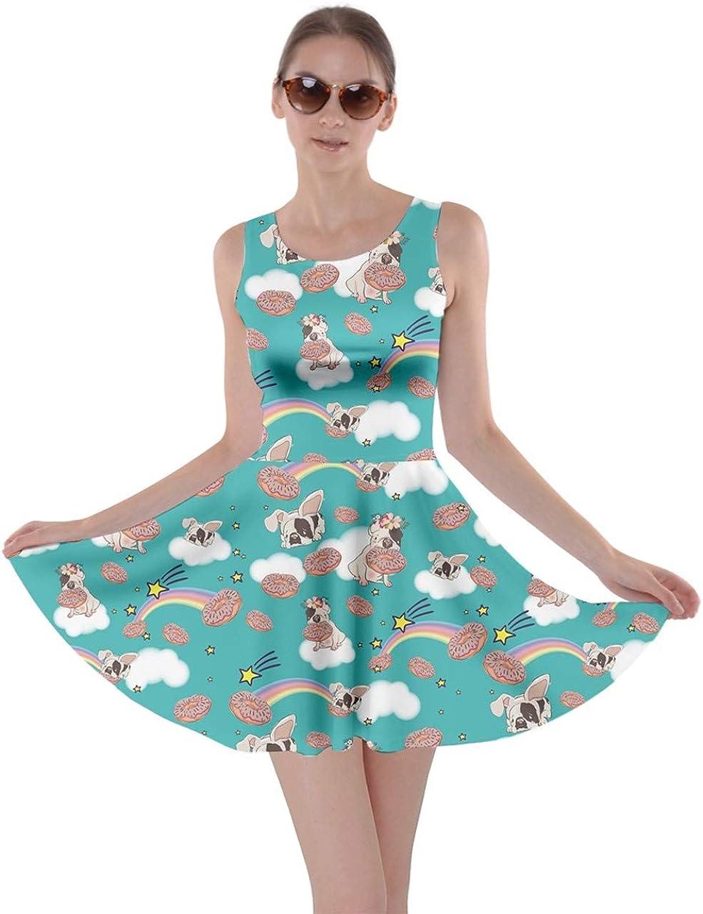 CowCow Womens Party Costume Bears Print Kawaii Cute Ghosts Skater Dress, XS-5XL