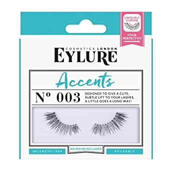 15a5dde56c0 Eylure Accents False Lashes, Style No. 003, Reusable, Adhesive Included, 1