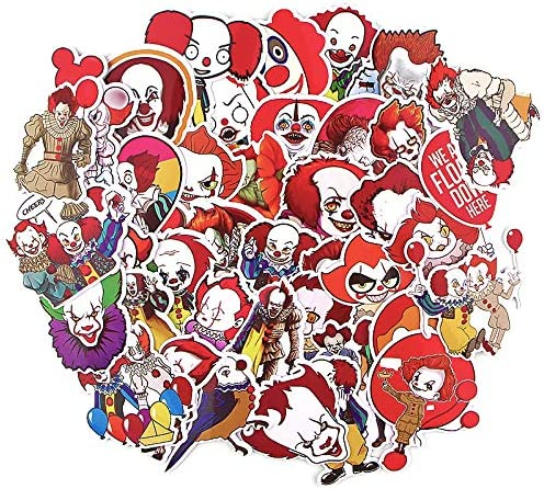 Pennywise IT Halloween Home Decor Wall Decal Horror Clown Big Vinyl Sticker Gift