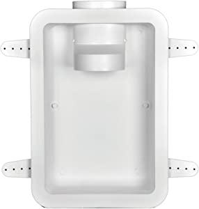 "Dundas Jafine DRB4XZW Recessed Dryer Vent Box, 4"", White"