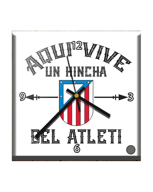 CamisetasATM1903 Reloj SOBREMESA ATLÉTICO DE Madrid AQUÍ Vive UN HINCHA del Atleti: Amazon.es: Hogar