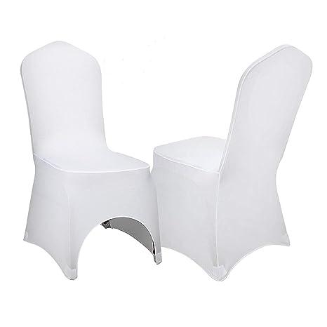 Amazon.com: VEVOR Juego de 100 fundas de silla de comedor de ...