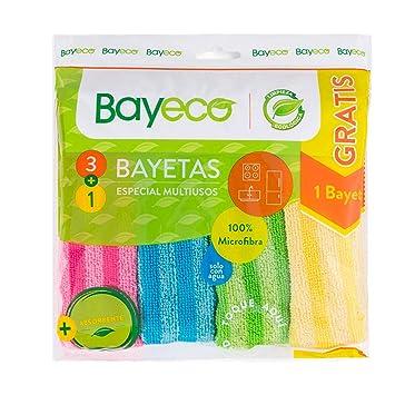 Bayeco Bayetas Microfibra Pack 3+1 Multiusos: Amazon.es ...