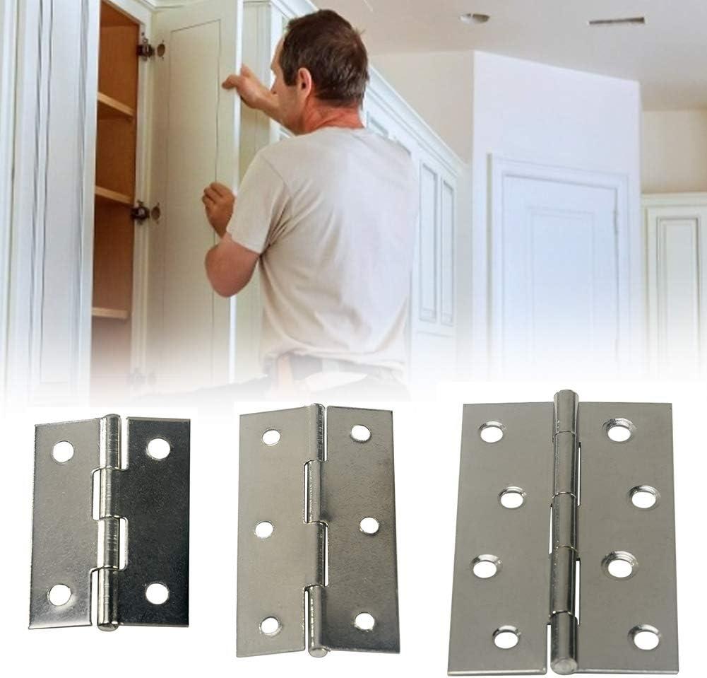 bisagras de acero inoxidable para puerta de fuego interior y exterior plateado 4 pares de bisagras de puerta de 2//3//4 pulgadas para puertas interiores