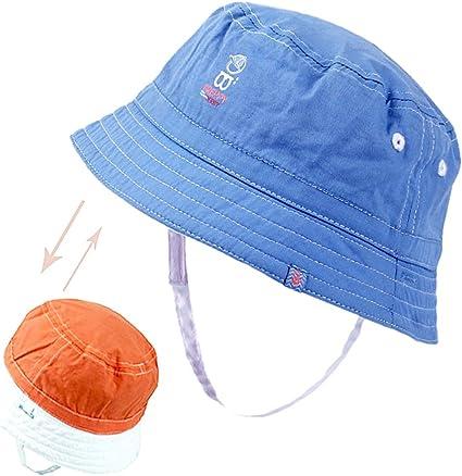 ragazze del bambino e del bambino Xiaoyu 2 in 1 cappelli unisex di sole del bambino su due lati