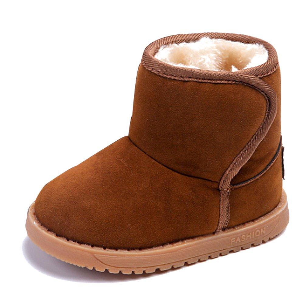KINDOYO Bébé Filles & Garçons Hiver Chaussures Bottes pour Enfant Chaud Fourrure Antidérapant Sole Souple Bottines