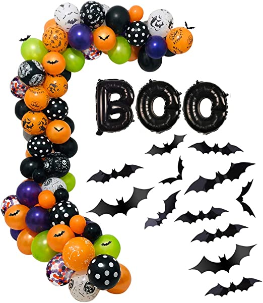 Halloween Birthday Halloween Garland Halloween Party Banner PumpkinSpiderBatSkull Halloween Baby Shower Halloween Party Decor