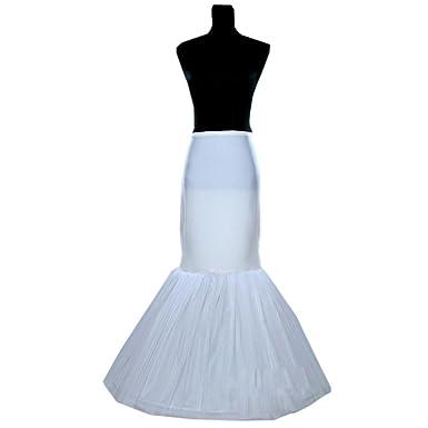 dressvip White Mermaid Underskirt for Wedding Prom Dress