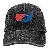 KIOJIANM USA Wrestling Unisex Baseball Caps Cartoon Snapback Hats Funny Trucker Hats Unique Denim Cap