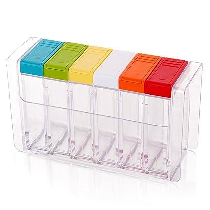 Wcp Botellas de Condimentos, Creativos Recipientes de Plástico para Condimentos/Caja de Condimentos,