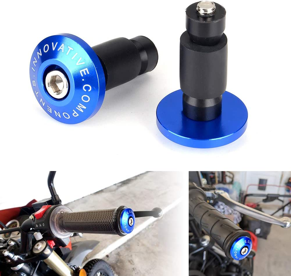"""New Pair Set Bar Ends Plugs for Motorcycles 7//8/"""" Handlebar Hand Grips Universal"""