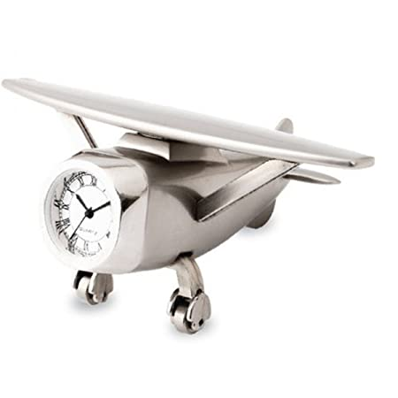 Billionbag Aeroplane Miniature Table Clock Paper Weight Office Desk Corporate Gift Home D�Cor