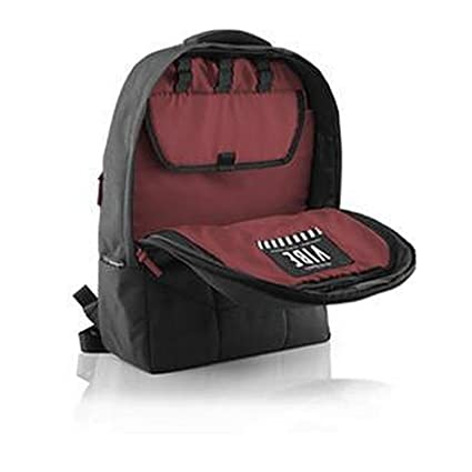 2dc66913cc8f Gruv Gear Vibe-BLK-BGY | Laptop Backpack Black Exterior Burgundy ...