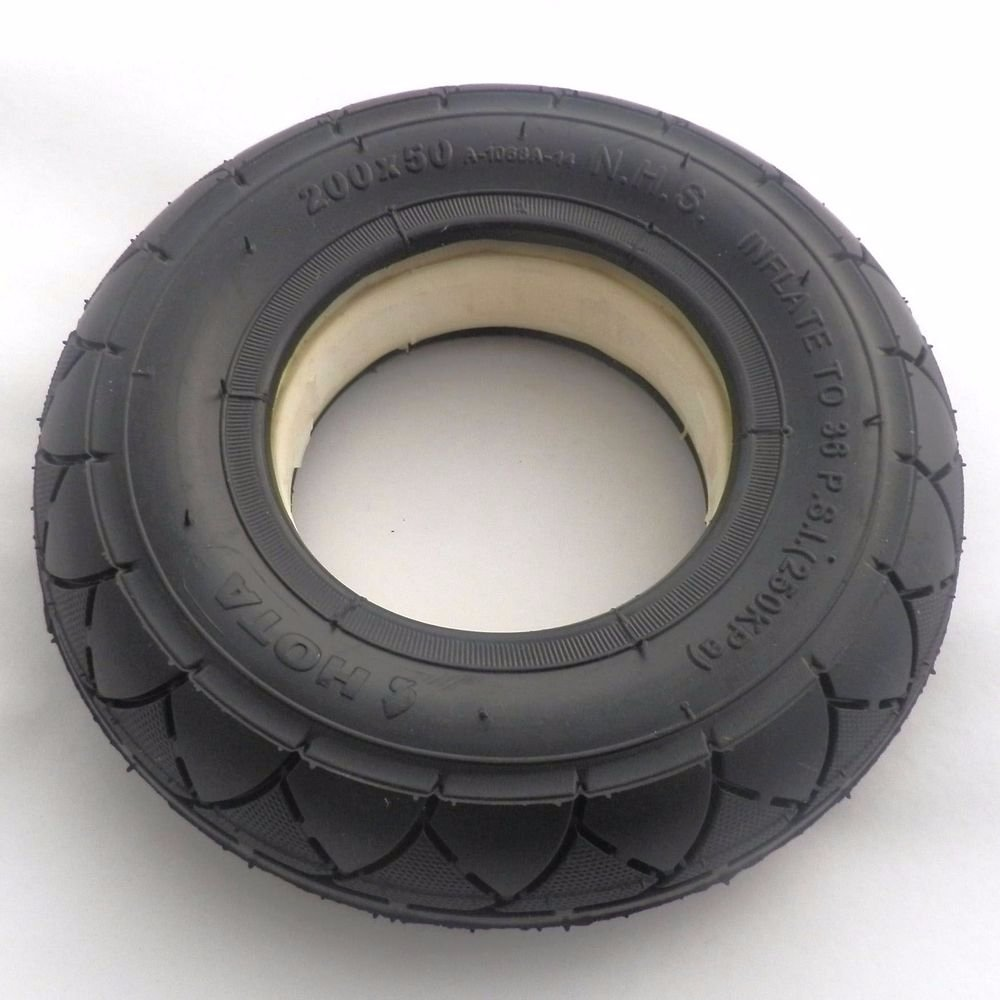 SCOOTER TUBELESS SOLID NO FLATS TIRE 200 X 50 (8 X 2)