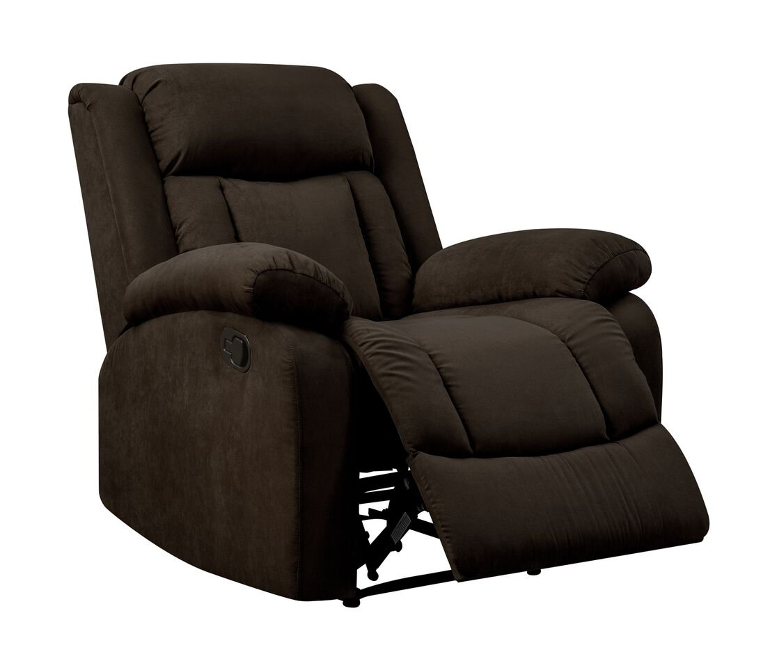 Pearington Keansburg Microfiber Living Room Recliner Chair, Chocolate