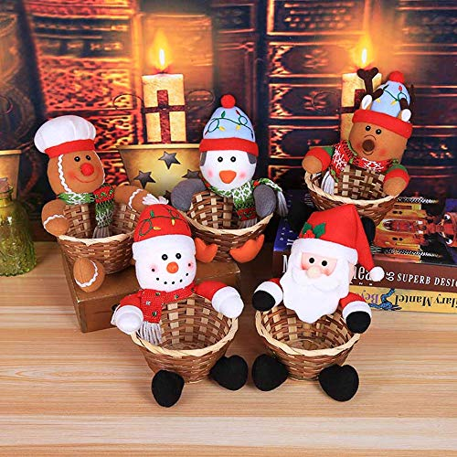 YKARITIANNA Merry Christmas Candy Storage Basket Decoration Santa Claus Storage Basket by YKARITIANNA Accessories (Image #1)