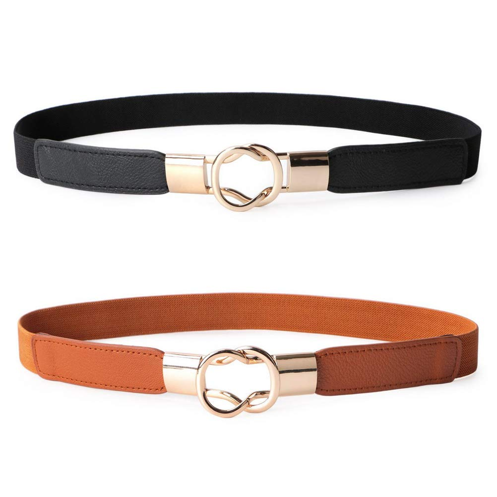 Stretch Waist Belt Retro Waistband for Women Girls Accessories nuoshen 2 Pcs Thin Waist Belt
