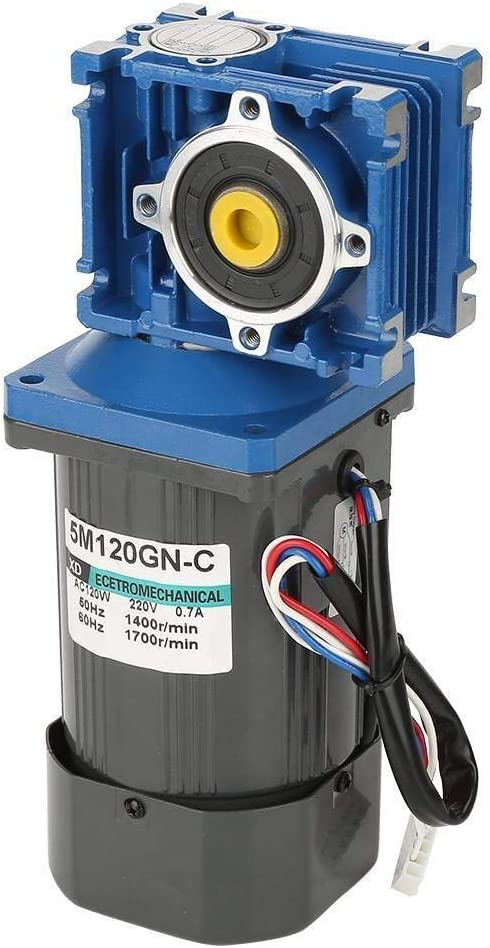 25K WY-YAN HZR Worm Gear Speed Reduction Motor AC220V 120W Self-Locking Worm Speed Adjustable CW//CCW Gear Motor with Governor
