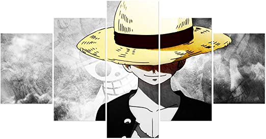 Luffy Home Decor Anime Poster Wall Scroll Christmas Whole 5 One Piece Monkey D