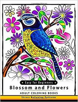 Amazon Blossom And Flowers Adult Coloring Book Easy For Beginner Flower Floral Kids Teen Adults Seniors 9781546784906 Jupiter
