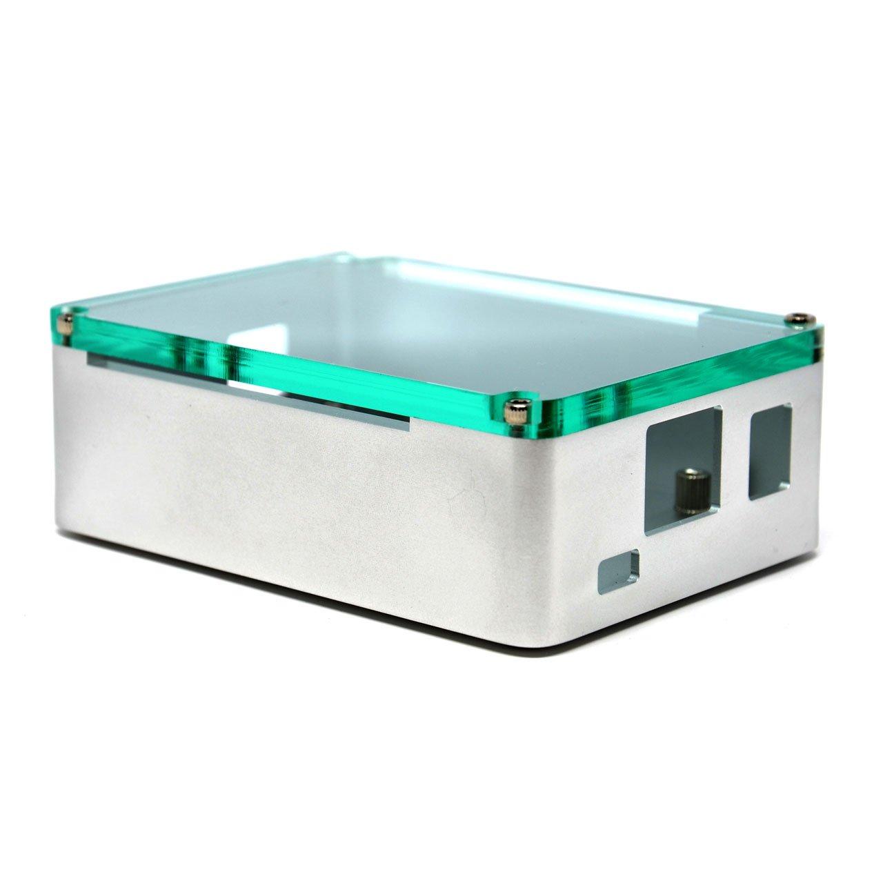anidees AI-BBB-SG BeagleBone Black Aluminium Case with Acrylic top lid -Silver