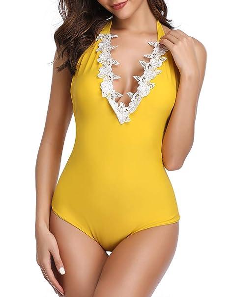 Amazon.com: MELYUM Bikini Traje de baño para mujer de ...