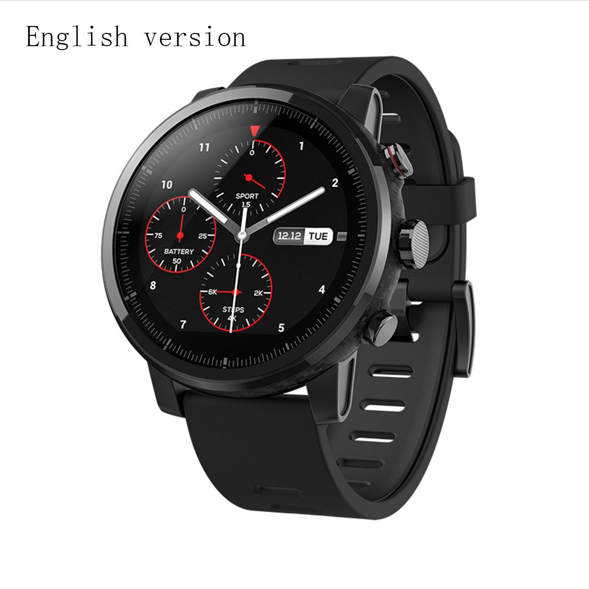Xiaomi Huami Amazfit Smart Watch Stratos 2 Sports Smartwatch With Gps Ppg Heart Rate Monitor 5 Atm Waterproof English Version by Amazon