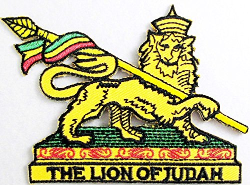 Lion of Judah Patch Embroidered Iron on Hat Jacket Hoodie Backpack Ideal for Gift /9.8cm(w) X 7.2cm(h) (Patch The Lion)