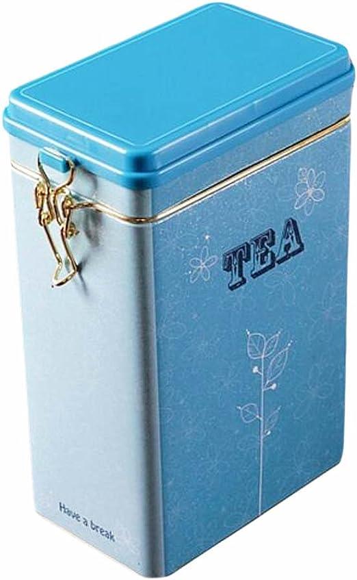 Black Temptation Tetera de Gran tamaño/Café/Azúcar/Cajas Selladas Lock Design Tin Boxes-04: Amazon.es: Hogar