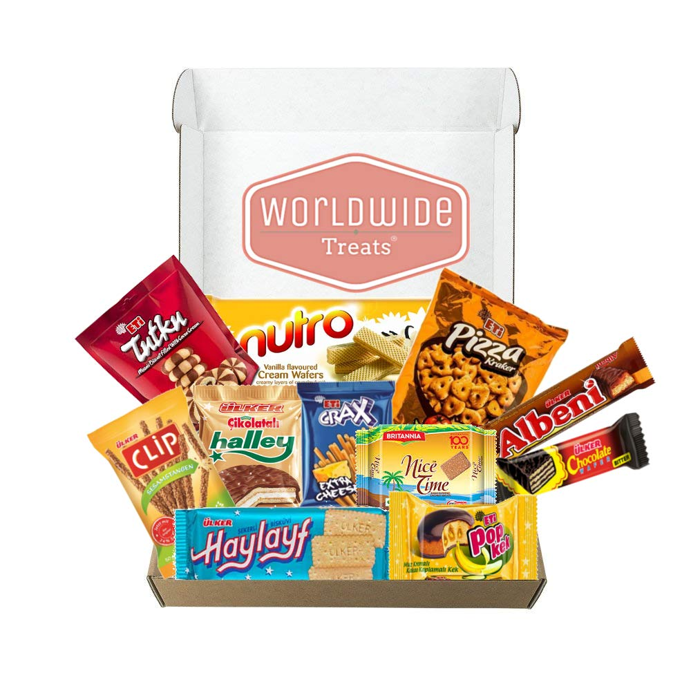 Middle East Snack Mix Package by WorldWideTreats - Snacks from Turkey, Jordan, Israel, Palestine and more