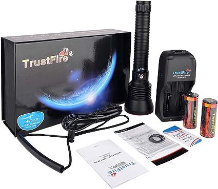 Amazon.com: TrustFire DF70 - Linterna de buceo (batería y ...