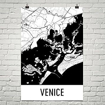 Venice poster venice art print venice wall art venice map venice city