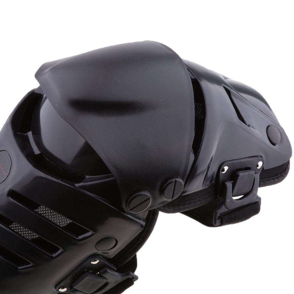 IPOTCH Adultes Moto Motocross Genou Prot/ège-Tibias Pads Brace Protecteur Gear Noir
