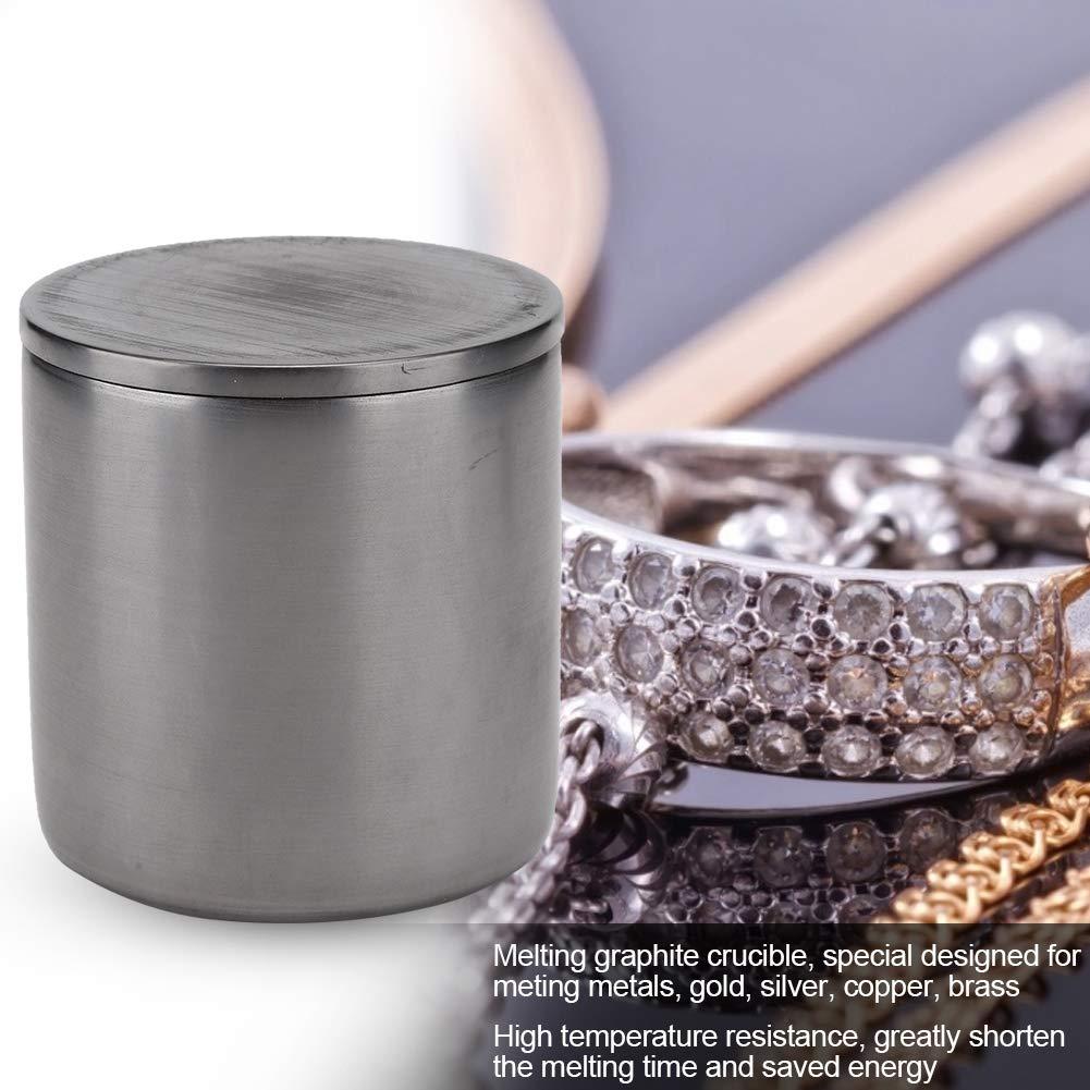 creusets en graphite pour m/étaux en alliage cuivre-laiton-cuivre-argent-or creuset en graphite avec cache-fil raccourcir le temps de fu Creuset portatif en graphite pour fusion /à haute temp/érature