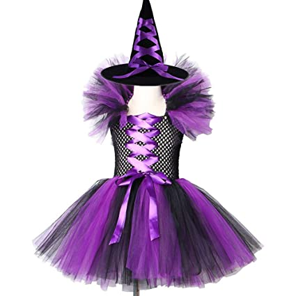 ZTZKS Maléfica Reina Malvada Vestido de tutú para niñas Vestido de ...