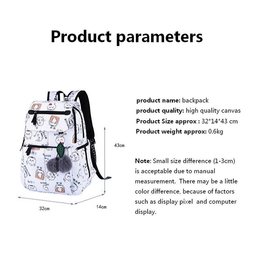 Amazon.com: Teenage Backpacks Female School Usb School Bags Girls Backpack Pack Women Laptop Backpack Cartoon Women Set 10