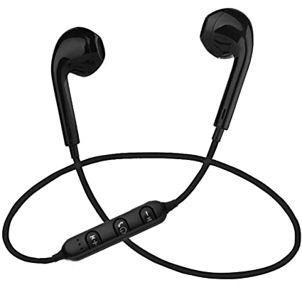 aede77304fd Image Unavailable. Image not available for. Colour: PTron Avento Bluetooth  Headphones in-Ear Wireless Earphones with Mic for All Smartphones (Black