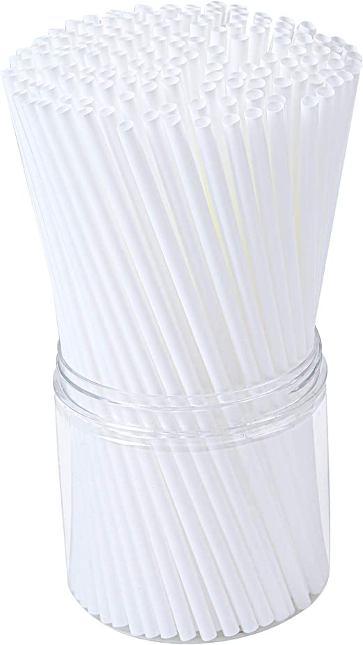 Aneco Pajitas de plástico biodegradables PLA ecológicas de almidón ...