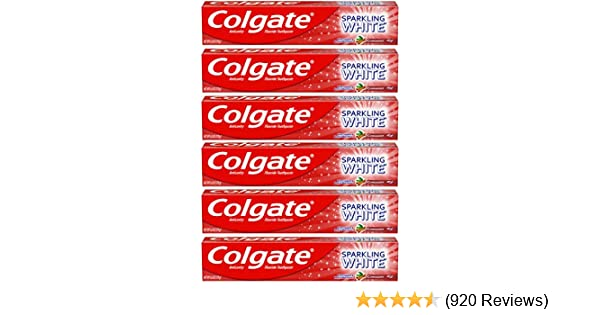 Colgate Sparkling White Cinnamon Toothpaste with Fluoride - 6 ounce (6 Pack)