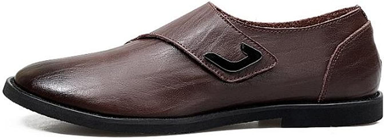 Jackdaine Men Casual Leather Tide Cowhide Business Oxford Shoes