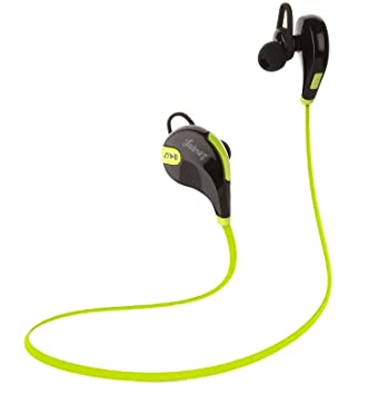 Juarez QY7 Bluetooth Wireless Headphone  Green  In Ear Headphones