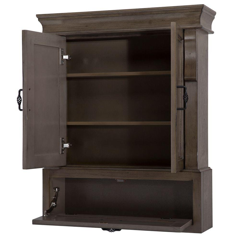 Naples 26 in. W x 32 in. H Wall Cabinet in Distressed Grey
