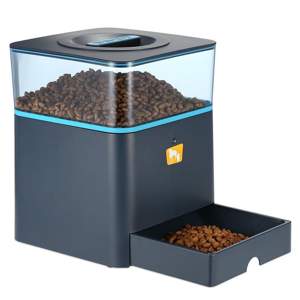 Anself - 4.5L Alimentador de Perros Mascotas Automático Programable de Lcd Pantalla, Mando a Distancia, con Aviso de Grabación de Voz H18063-3BN249