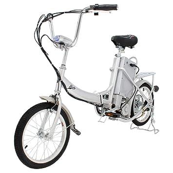 Riscko Bicicleta Eléctrica Plegable 250W de Potencia 25 km/h luz Delantera Acero Lacado con