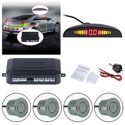 Coche inversa sistema de radar de copia de seguridad, FOME LED distancia pantalla coche vehículo Reverse ...