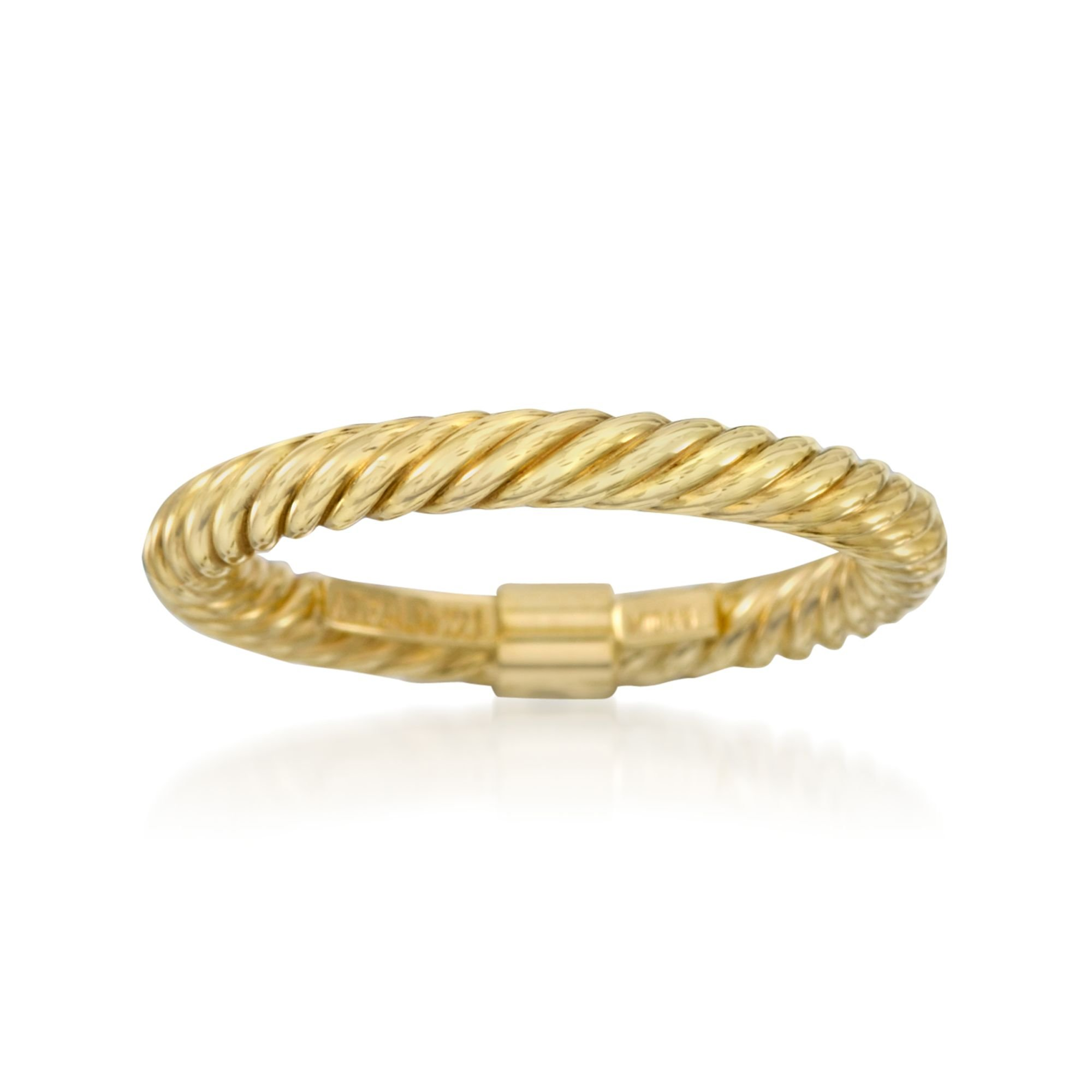 Ross-Simons 14kt Yellow Gold Stackable Twisted Ring