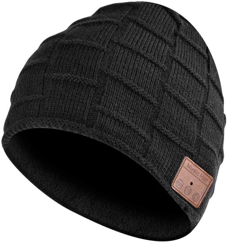 Bluetooth Beanie, Bluetooth Hat, Men Gifts, Women Men Beanie Hats with Bluetooth Headphones, Fits for Hands-Free Call, Outdoor Sports, Skiing,Running, Skating, Walking, Christmas Birthday Gifts for M