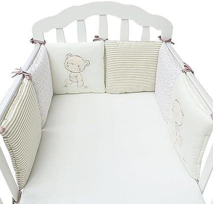 Tour de lit avec sch/ärpen multicolores pour le lit b/éb/é 60/x 120/cm lit Tour de lit tour de lit t/ête Protection Nid