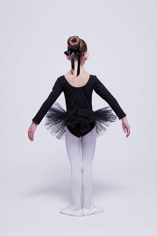 Nero tanzmuster tut/ù da Danza Classica Alea per Bambini in Rosa Viola e Fucsia Celeste Bianco