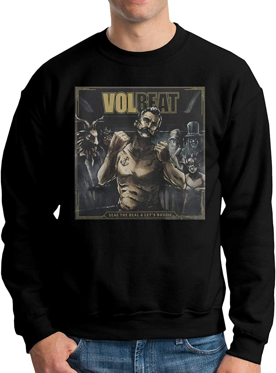 ISAACWALLACE Volbeat Mens Crew Neck Hoodie Crew Neck Sweatshirt Winter Hoodie Long Sleeve